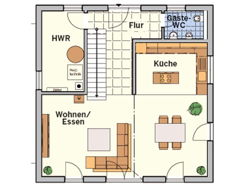 Grundriss Erdgeschoss Entwurf Z 90.10