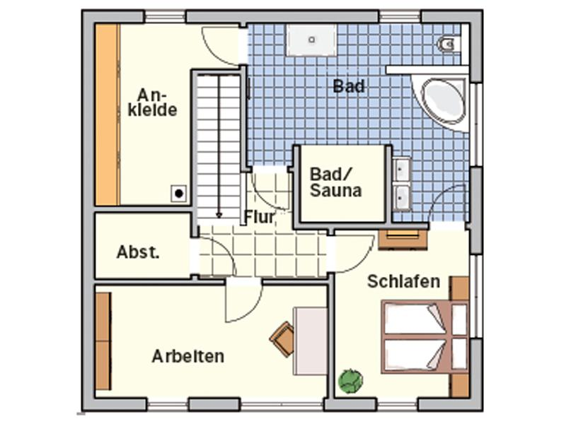 Grundriss Obergeschoss Entwurf Z 90.10