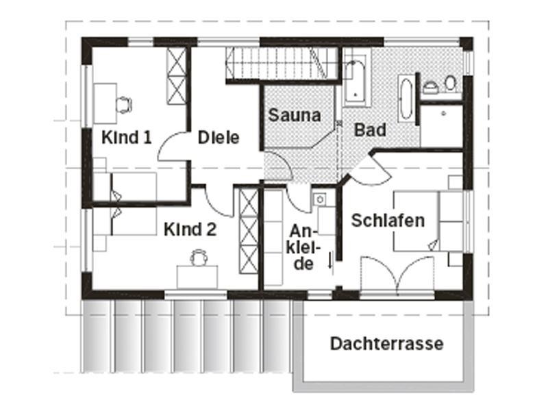 Grundriss Obergeschoss Entwurf Schönberg von Sonnleitner