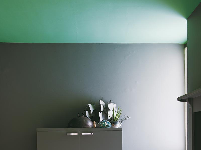 Tapeten Farbtrend Grau Türkis Farrow und Ball