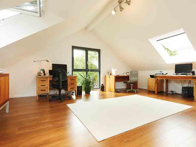 Modell Ponticelli von Gussek Haus Dachgeschoss Büro