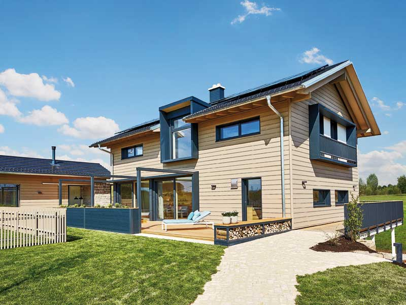 Entwurf Heimat 4.0 von Baufritz Außenansicht