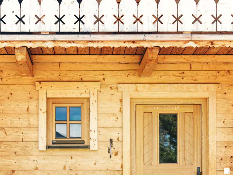 Blockhaus Berchtesgaden von Chiemgauer Detail aussen