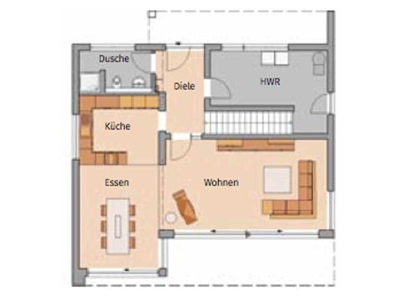 Grundriss Erdgeschoss Entwurf Elea von Kern