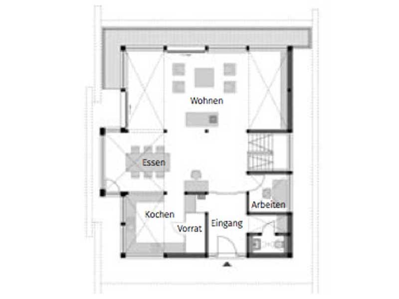 Grundriss Erdgeschoss Huf Art 4 Frankfurt von Huf Haus