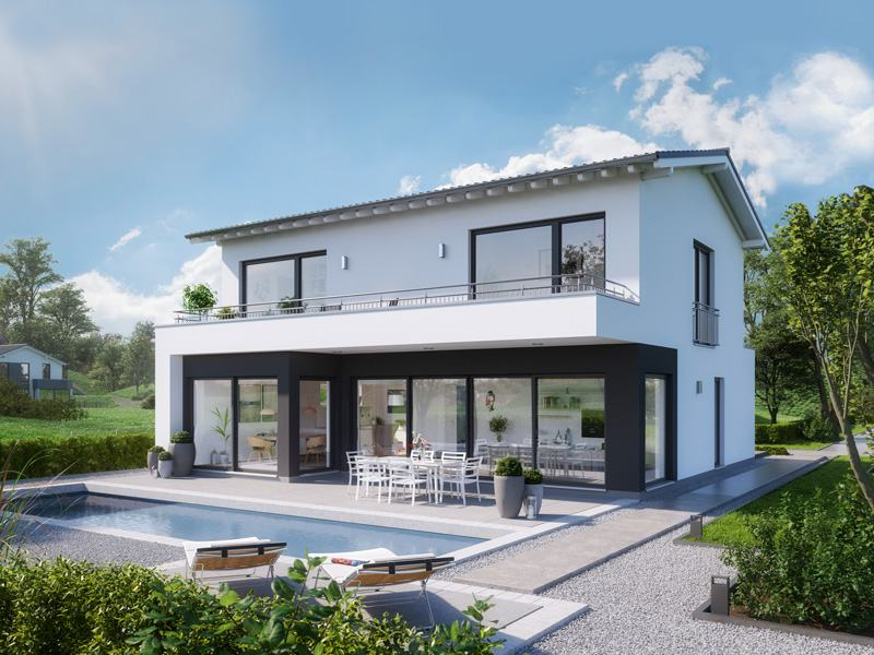 Entwurf Elea von Kern-Haus Gartenseite