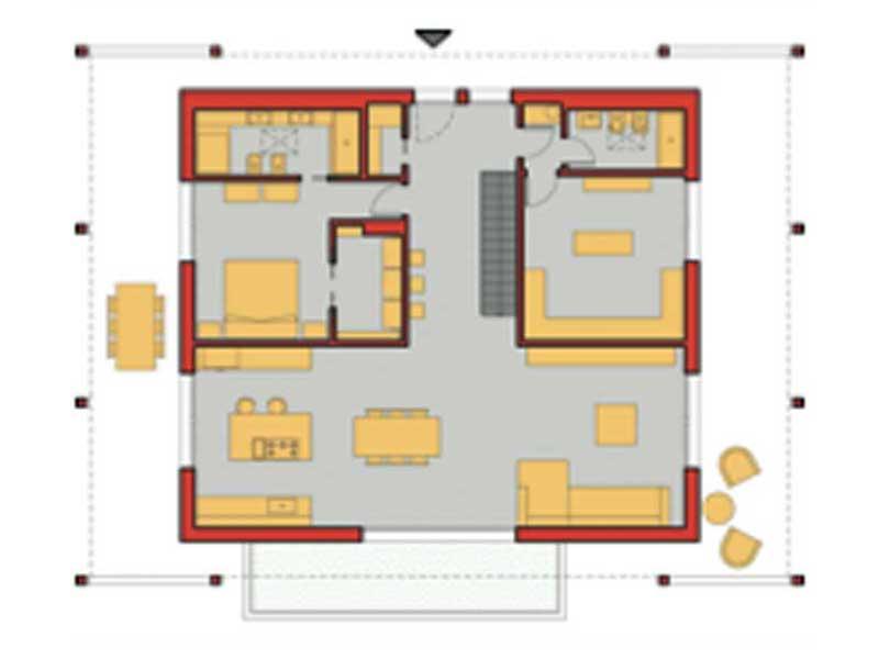 Grundriss Erdgeschoss Entwurf Miriam von Rubner Haus