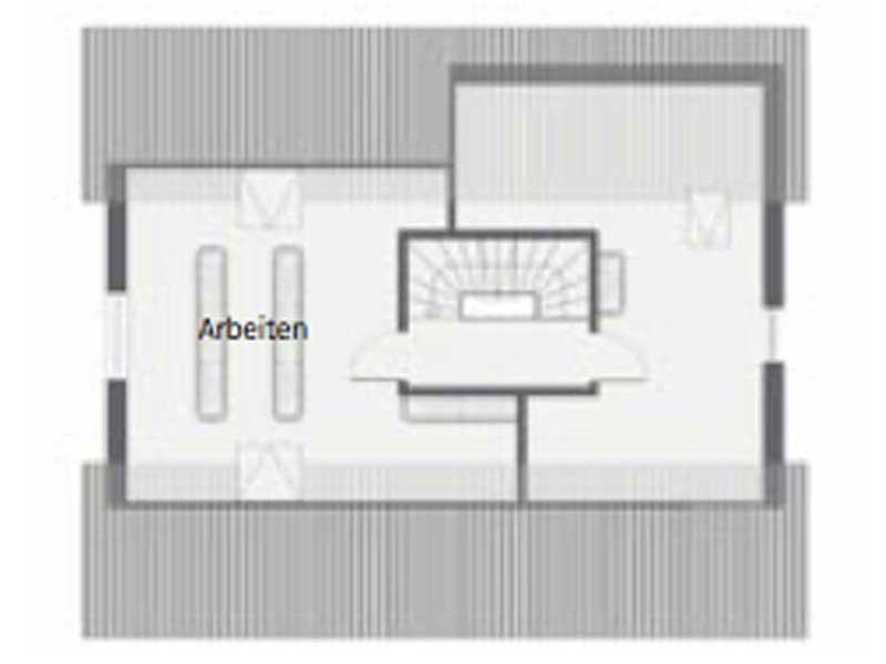 Grundriss Dachgeschoss Ponticelli von Gussek Haus