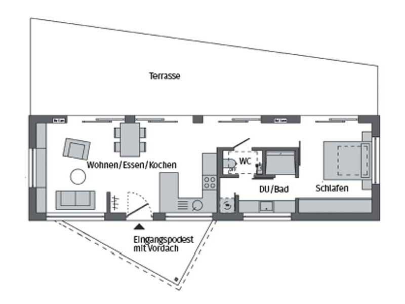 Grundriss Flying Space Werder von SchwörerHaus