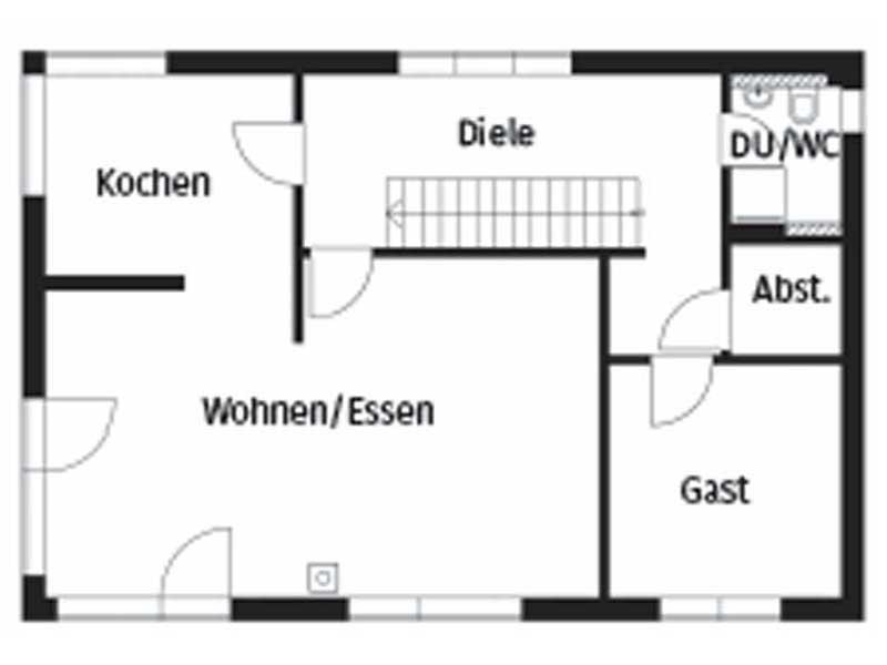 Grundriss Erdgeschoss Homestory 264 von Lehner Haus
