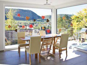 Entwurf Homestory 264 von Lehner Haus Wohn-Ess-Bereich