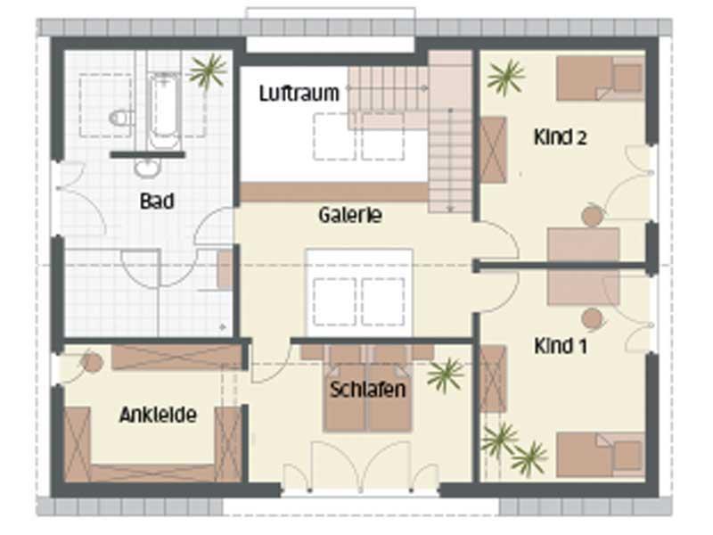 Grundriss Obergeschoss Haus Bad Vilbel von Keitel Haus