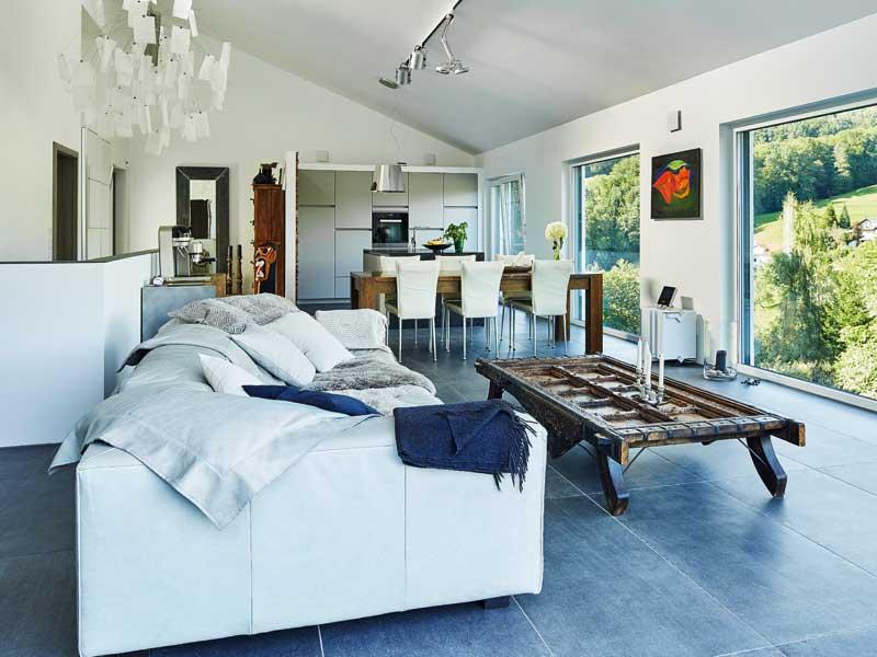 Pultdach modern 102 von Luxhaus Wohnbereich
