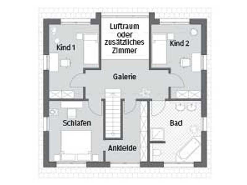 Grundriss Obergeschoss Entwurf Hamburg von Bau GmbH Roth