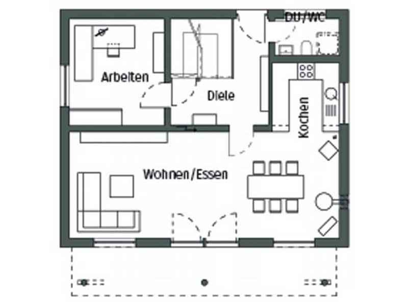 Grundriss Erdgeschoss Stellmacher von SchwörerHaus