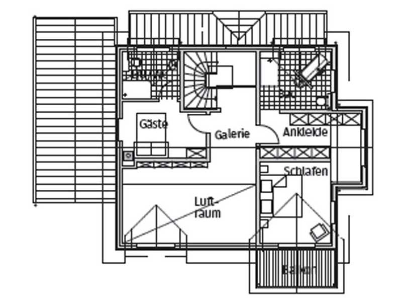 Grundriss Obergeschoss Haus Zaubernuss von Stommel Haus