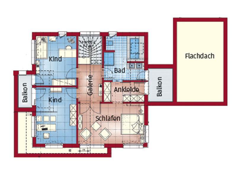 Grundriss Obergeschoss Concept M 166 Erfurt von Bien-Zenker