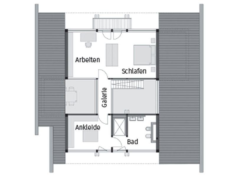 Grundriss Dachgeschoss Art 3 SOV von Huf Haus