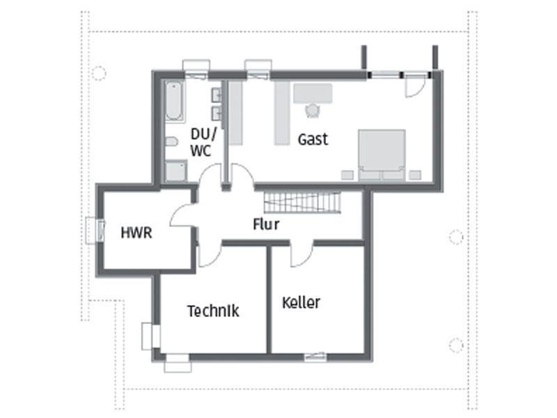 Grundriss Untergeschoss Art 3 SOV von Huf Haus