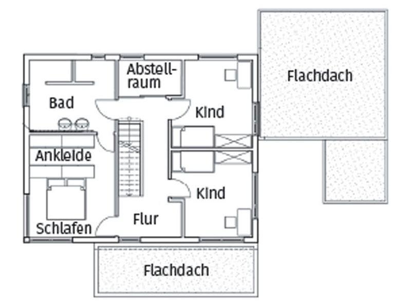 Grundriss Obergeschoss Homestory 496 von Lehner Haus