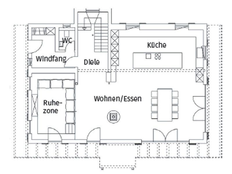 Grundriss Erdgeschoss Haus Alois von Regnauer