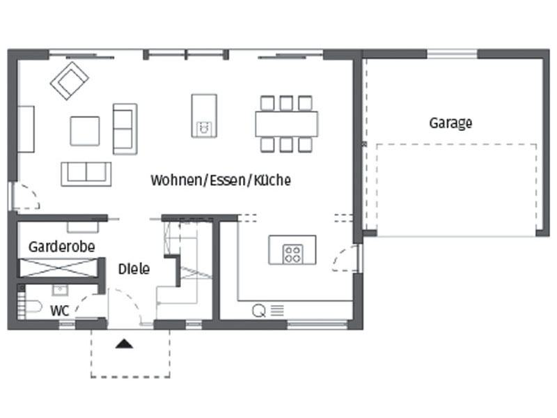 Grundriss Erdgeschoss Kundenhaus Glaser Schwoererhaus