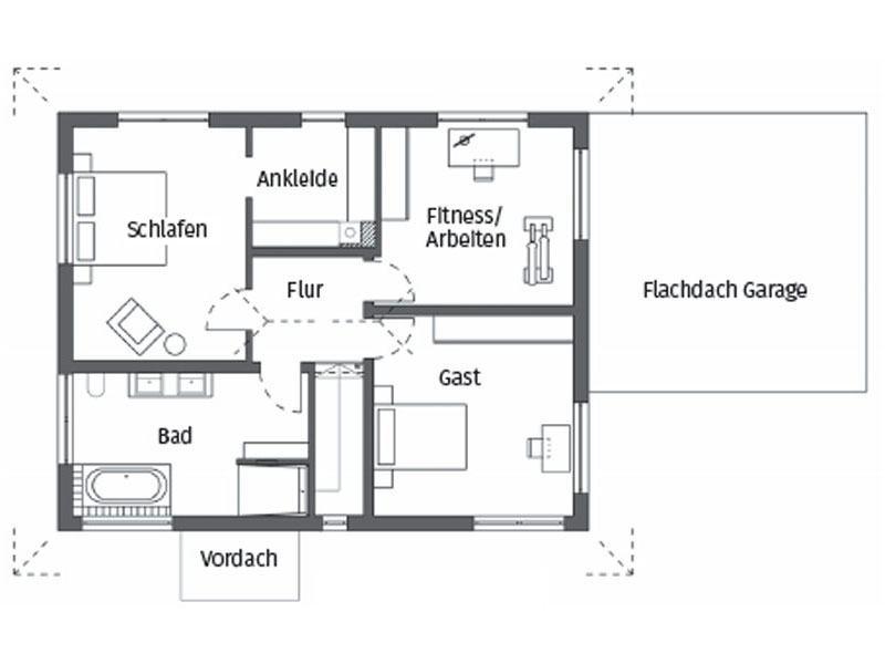 Grundriss Obergeschoss Kundenhaus Glaser Schwoererhaus