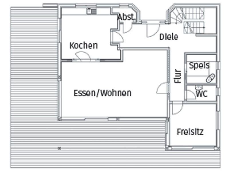 Grundriss Erdgeschoss Haus Grünwald von Sonnleitner