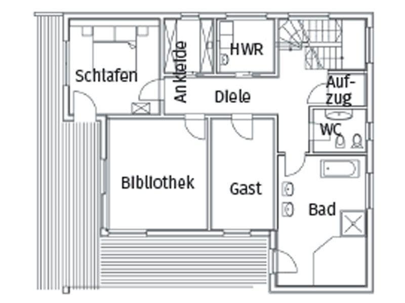 Grundriss Obergeschoss Haus Grünwald von Sonnleitner