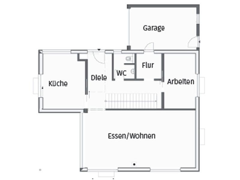 Grundriss Erdgeschoss Kundenhaus Magnolie von Stommel