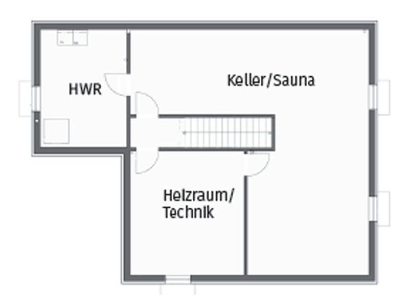 Grundriss Kellergeschoss Kundenhaus Magnolie von Stommel