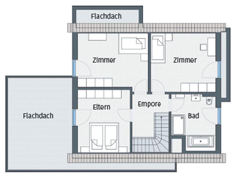 Grundriss Obergeschoss Haus Wenden von WeberHaus