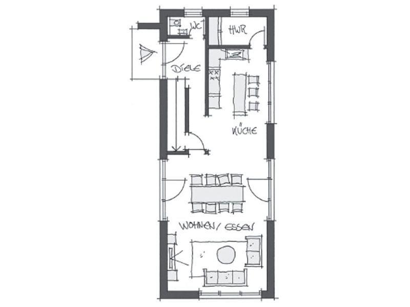 Grundriss Erdgeschoss individuelle Planung Wolf System