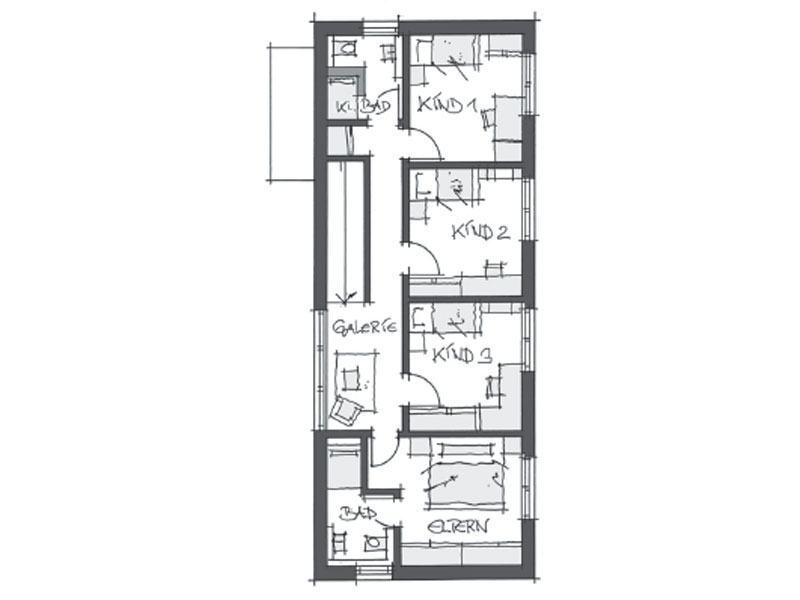 Grundriss Obergeschoss individuelle Planung Wolf System