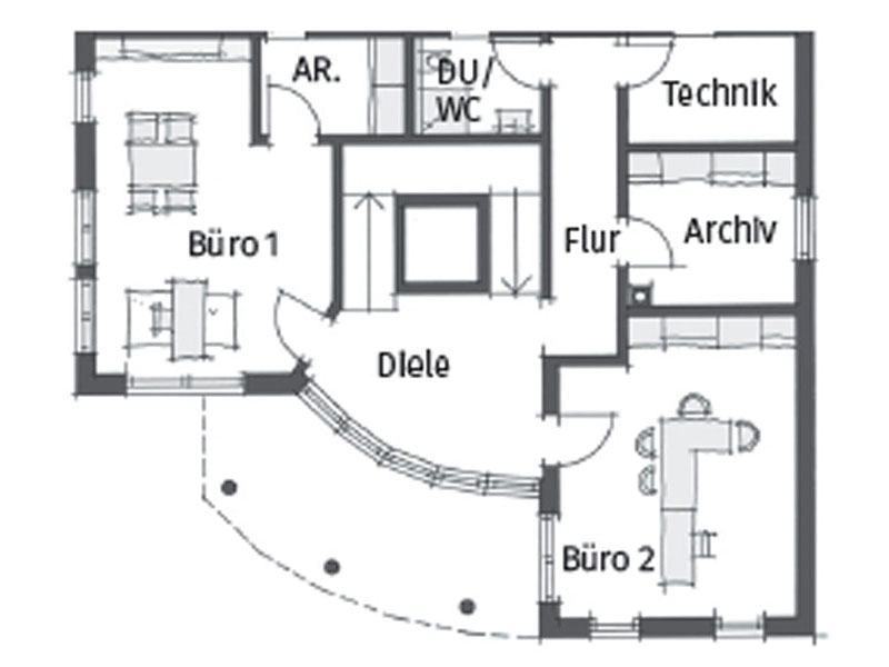 Grundriss Untergeschoss Haus Schwaebische Alb von Wolf System