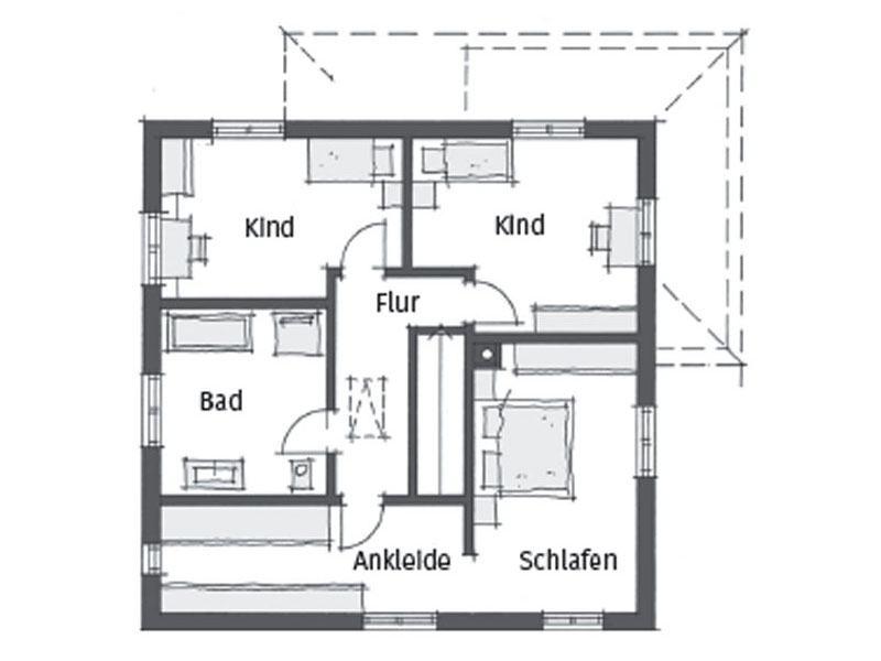 Grundriss Obergeschoss individuelle Planung Passau von Wolf System