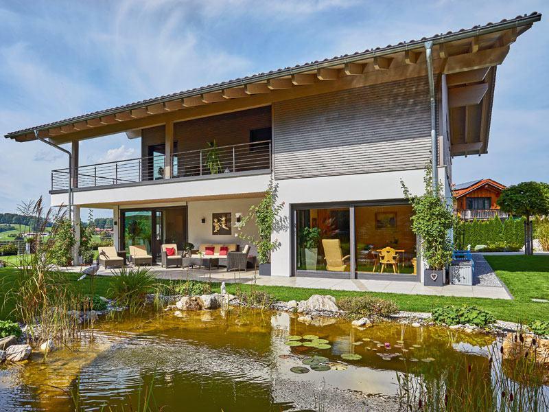 Haus Grünwald von Sonnleitner Gartenseite