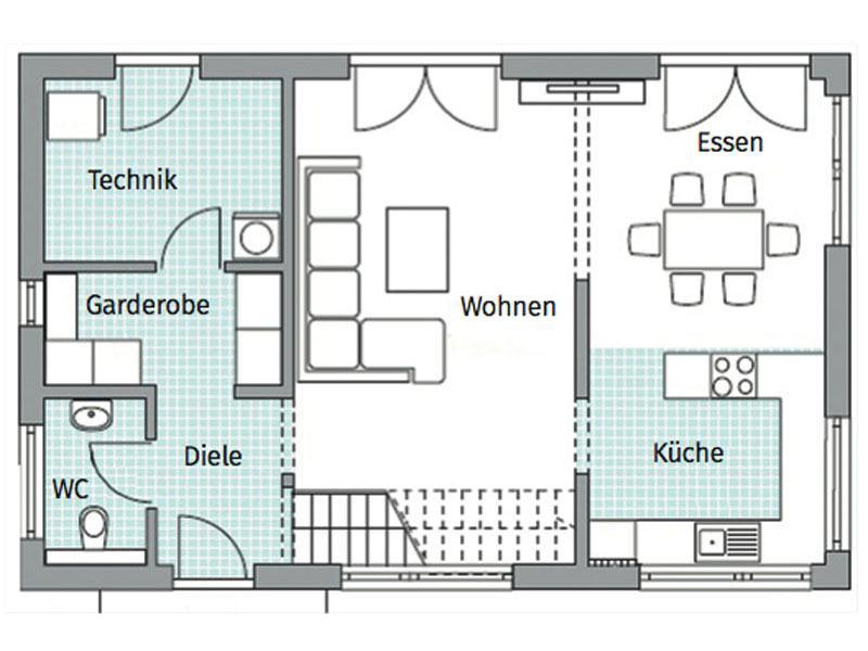Grundriss Erdgeschoss Entwurf Park 127 von Danwood