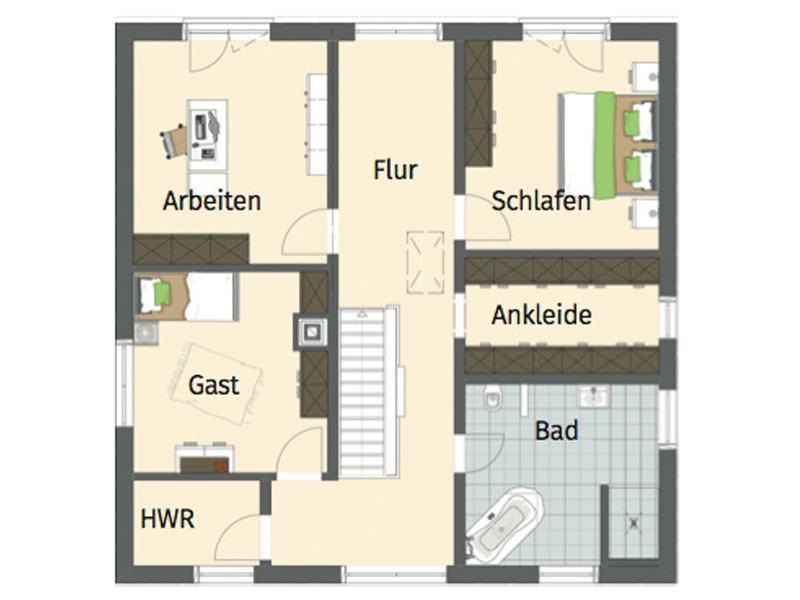 Grundriss Obergeschoss Entwurf Bravur von Fingerhaus