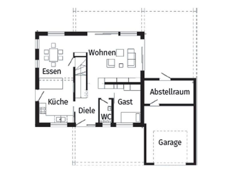 Grundriss Erdgeschoss Schöner-Wohnen-Haus von Schwörerhaus