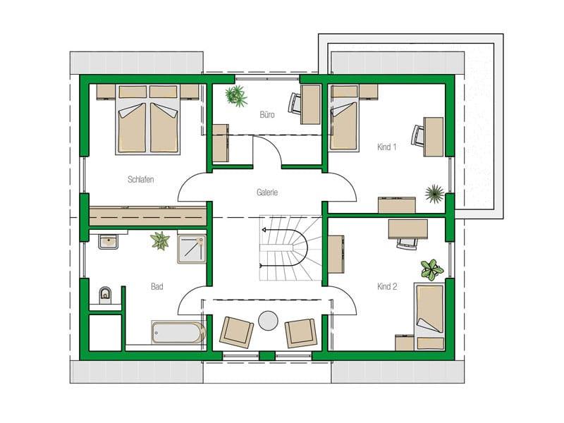 Grundriss Obergeschoss Entwurf Colmar von Helma