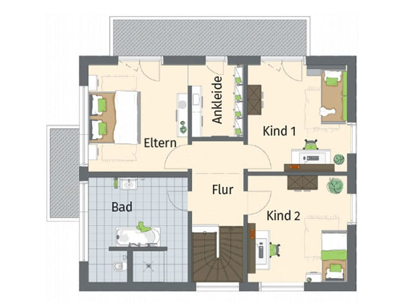 Grundriss Obergeschoss Entwurf Medley Kassel von Fingerhaus