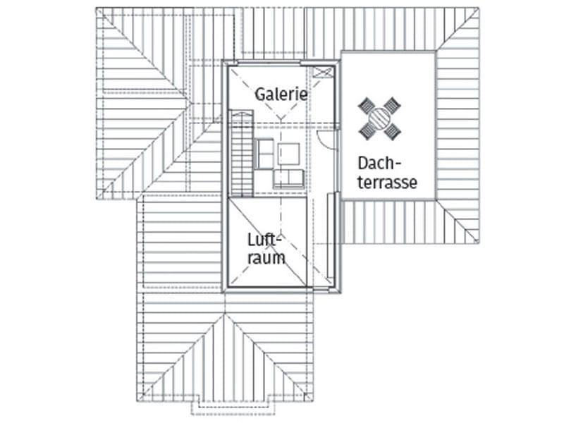 Grundriss Obergeschoss Entwurf Freilinger von Sonnleitner