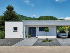 Carport der Bauherren Schneider-Boehm