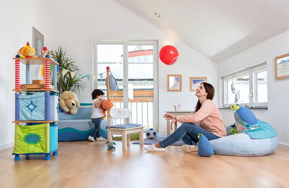 Kinderzimmer Fertighaus Weiss