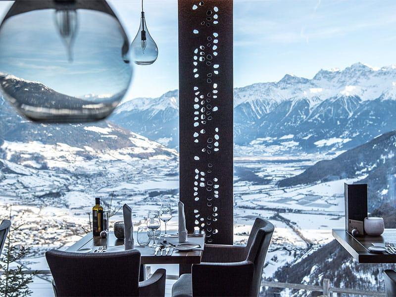 Restaurantausblick im Alpin- & Relax Hotel DAS GERSTL (Foto: Helmuth Rier)