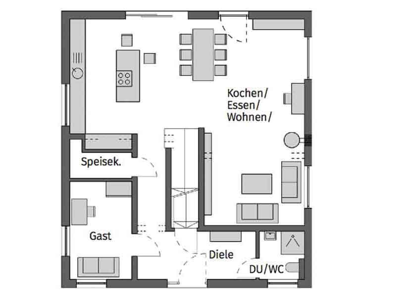 Grundriss Erdgeschoss KH Fiedler von Schwoerer