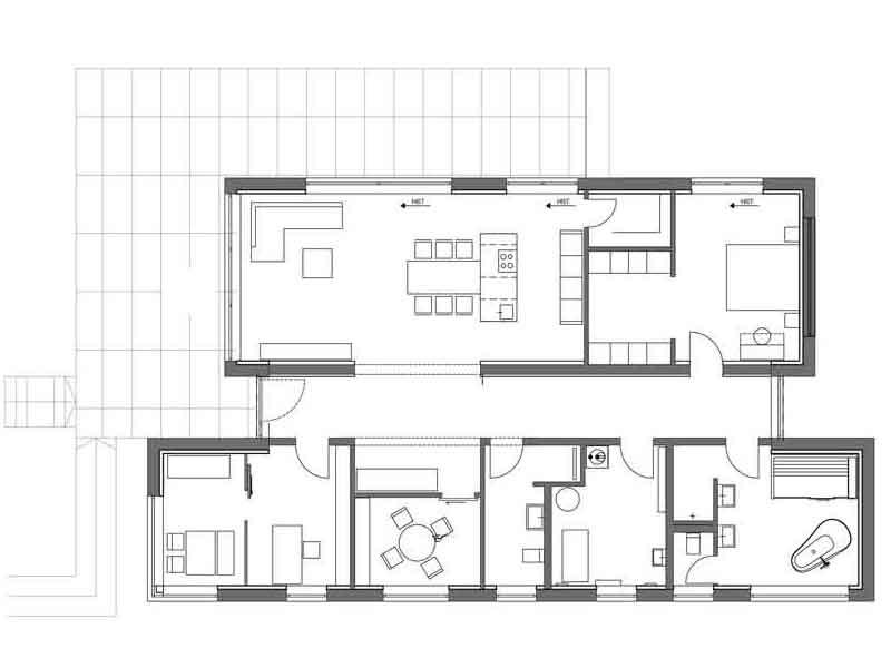 Grundriss Musterhaus Fellbach von Luxhaus