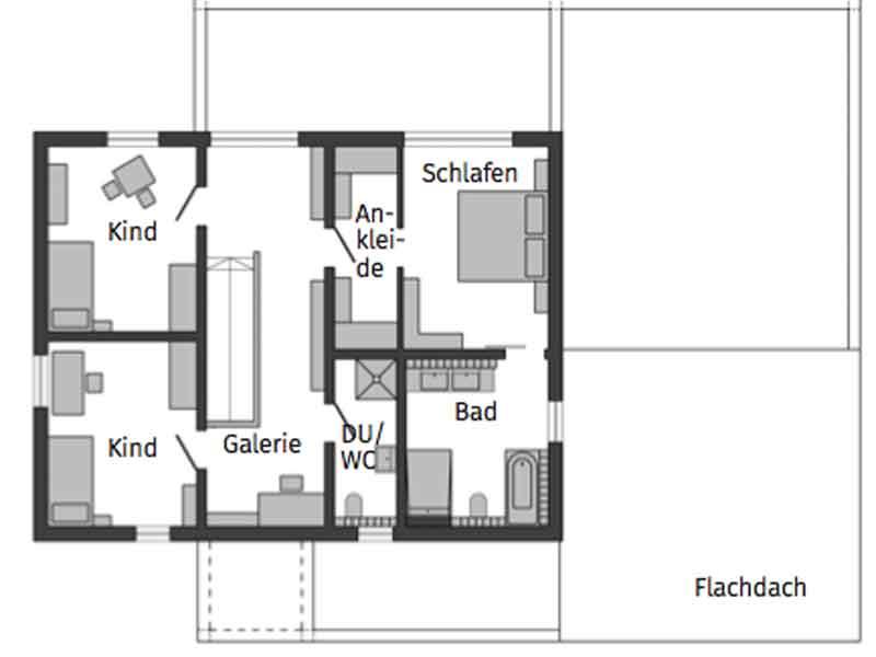 Grundriss Obergeschoss Schwoerer_Mueller