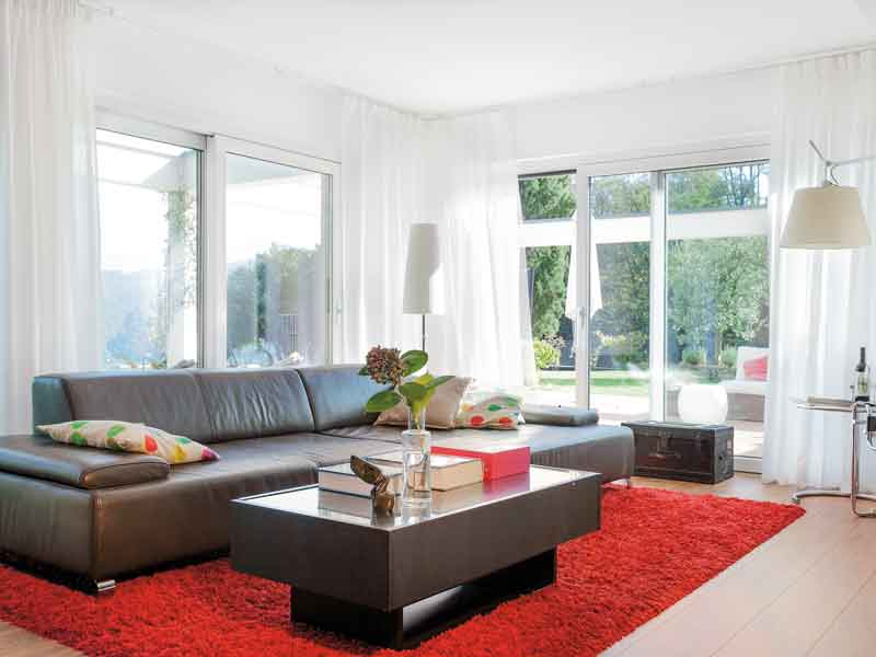 Der Wohnbereich im Kundenhaus Müller